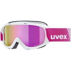 UVEX Slider FM Lunettes de protection Enfant, white/mirror pink